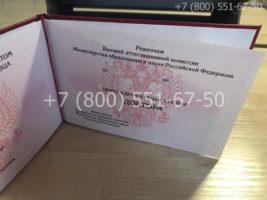 Диплом доктора наук нового образца, титульный лист-2