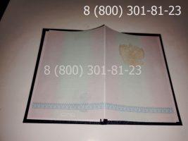 Диплом техникума 2004-2006 годов, старого образца (заполненный), обложка-2
