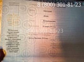 Диплом магистра 2014-2020 годов, нового образца (заполненный), приложение на просвет-1