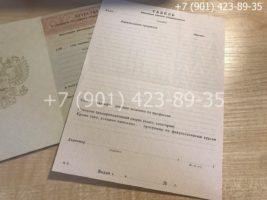 Аттестат 11 класс 1994-2006 год, старого образца, титульный лист с приложением
