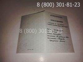 Аттестат 11 класс 1994-2006 годов, старого образца (заполненный), приложение-1