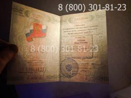 Диплом ПТУ 2008-2014 годов, нового образца (заполненный), титульный лист на просвет