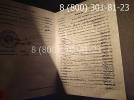 Диплом СССР о высшем образовании до 1996 года (заполненный), приложение на просвет