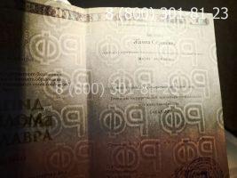 Диплом бакалавра 2014-2020 годов (заполненный), титульный лист на просвет-1