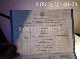 Диплом техникума 2011-2013 годов, старого образца (заполненный), титульный лист на просвет