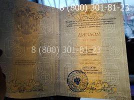 Диплом магистра 2011-2013 годов, старого образца (заполненный), титульный лист на просвет