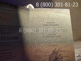 Диплом техникума 2014-2020 годов, нового образца (заполненный), титульный лист на просвет
