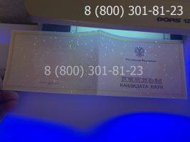 Диплом кандидата наук нового образца (заполненный), приложение под УФ лампой-1