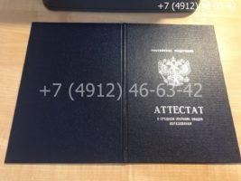 Аттестат 11 класс 2010-2013 годов, образец, обложка
