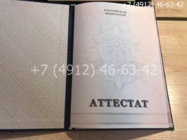 Аттестат 11 класс 2010-2013 годов, образец, титульный лист-2