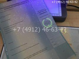 Диплом бакалавра 2011-2013 годов, образец, приложение под УФ лампой