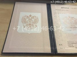 Диплом ПТУ 1995-2005 годов, старого образца, титульный лист-2