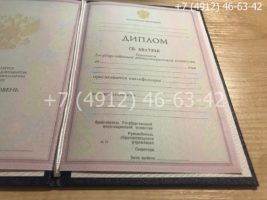 Диплом техникума 2004-2006 годов, образец, титульный лист-1