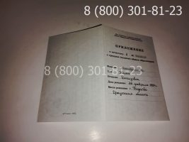 Аттестат 11 класс 1994-2006 годов с заполнением, приложение-1