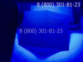 Аттестат 11 класс 1994-2006 годов с заполнением, приложение под УФ лампой