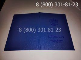 Аттестат 11 класс 2014-2020 годов с заполнением, обложка-1