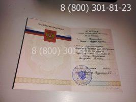 Аттестат 11 класс 2007-2009 годов с заполнением, титульный лист-1
