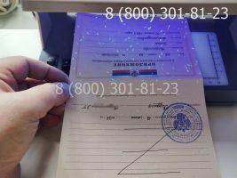 Аттестат 11 класс 2007-2009 годов с заполнением, приложение под УФ лампой
