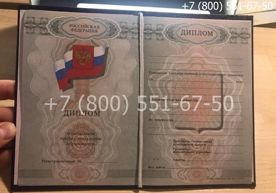 Диплом ПТУ 2008-2014 годов, образец, титульный лист-1