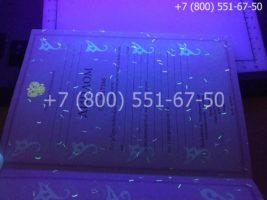 Диплом колледжа 2004-2006 годов, образец, титульный лист под УФ лампой
