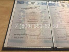 Диплом колледжа 2011-2013 годов, образец, титульный лист-1