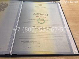 Диплом магистра 2009-2011 годов, старого образца, титульный лист-2