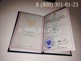 Диплом техникума 2004-2006 годов с заполнением, титульный лист-2