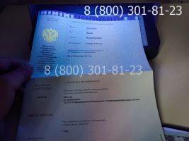 Диплом магистра 2014-2020 годов с заполнением, приложение под УФ лампой