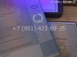 Диплом бакалавра 2010-2011 годов, старого образца, приложение под УФ лампой