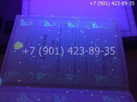 Диплом техникума 2004-2006 годов, старого образца, титульный лист под УФ лампой