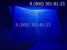 Диплом ПТУ 1995-2005 годов с заполнением, приложение под УФ лампой