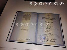 Диплом специалиста 2009-2010 годов с заполнением, титульный лист-2