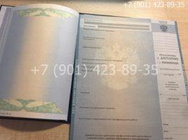 Диплом специалиста 2009-2010 годов, старого образца, титульный лист и приложение