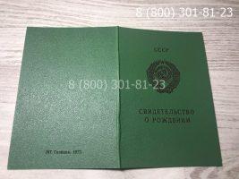 Свидетельство о рождении СССР 1970-1991 годов, образец, обложка