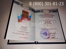 Диплом техникума 2007-2010 годов с заполнением, титульный лист-2